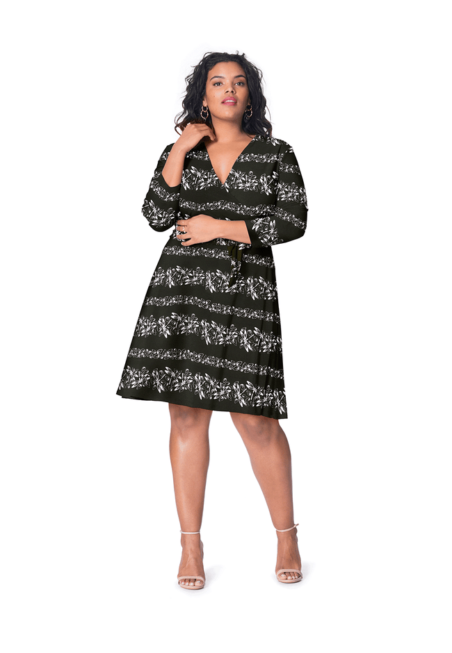 Perfect Wrap Dress in Soar (Curve)