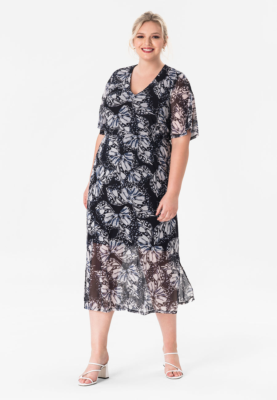 Leota Ivy Dress in Butterfly (Curve)