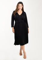 Eliza Dress in Luxe Jersey Black