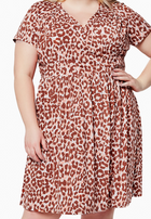 Sweetheart Dress on Leo Coral Almond (Curve)