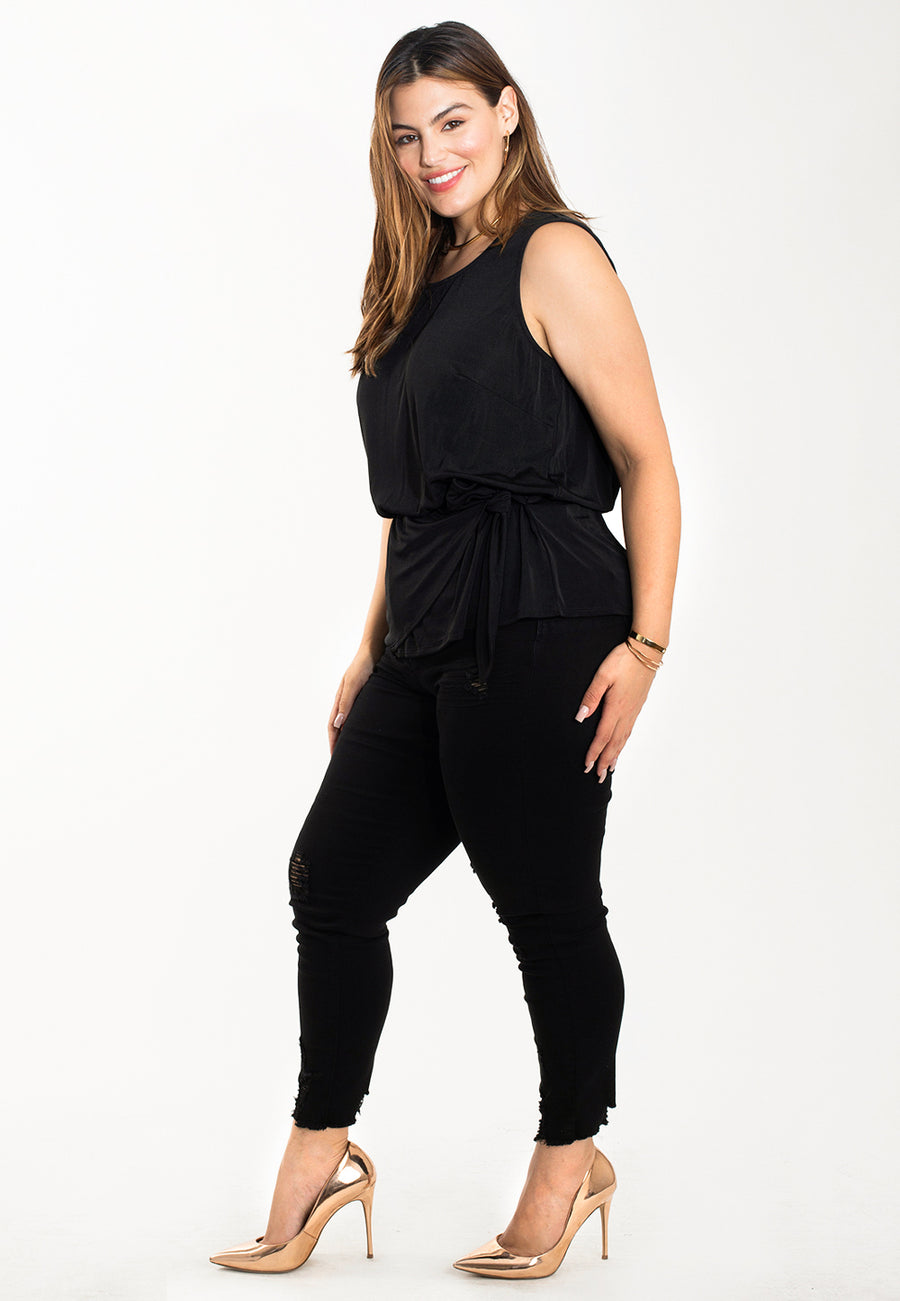 Helen Top in Luxe Jersey Black