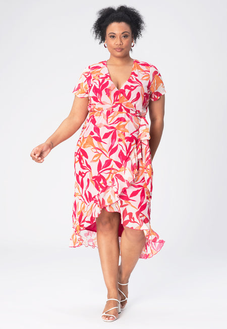 Rose Dress in Paradise Pink Peacock (Curve)