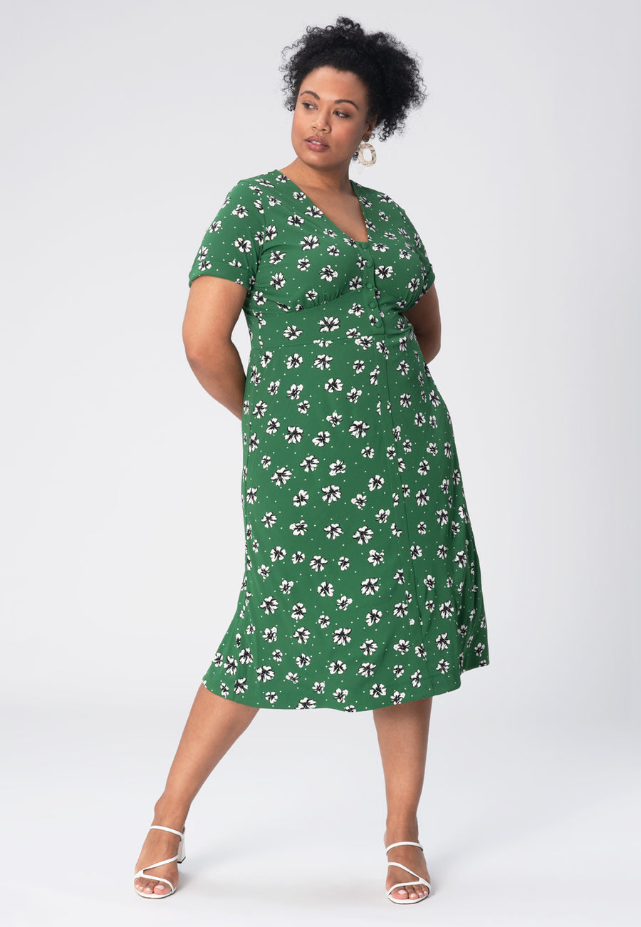 Leota Francesca Dress in Flowers and Dots Amazon (Curve)