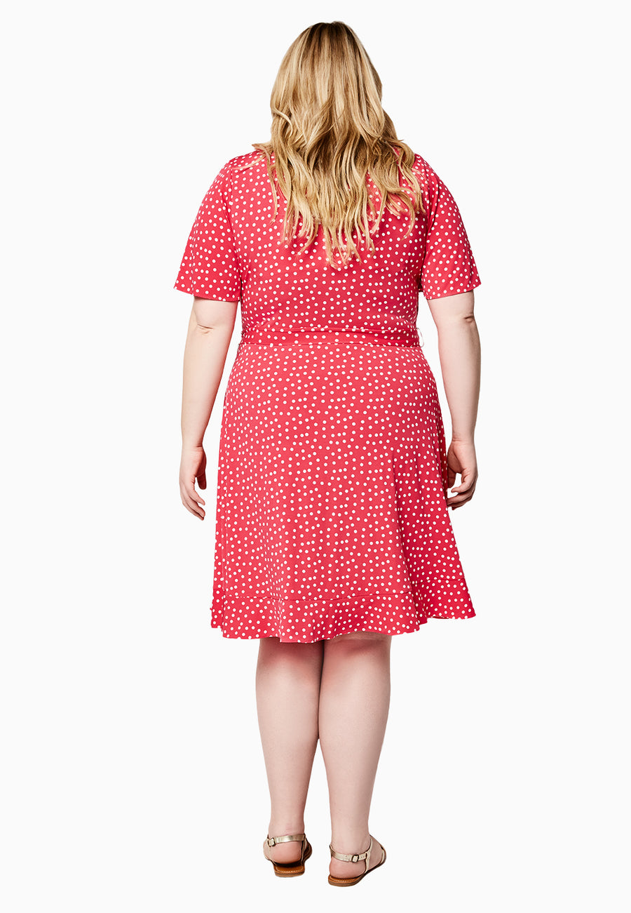 Hayley Dress in Confetti Dot (Curve)