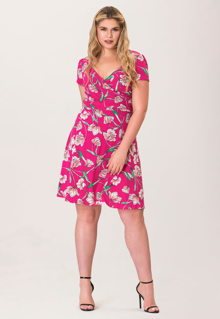 Sweetheart A-Line Dress in Wild Tulip Pink (Curve)