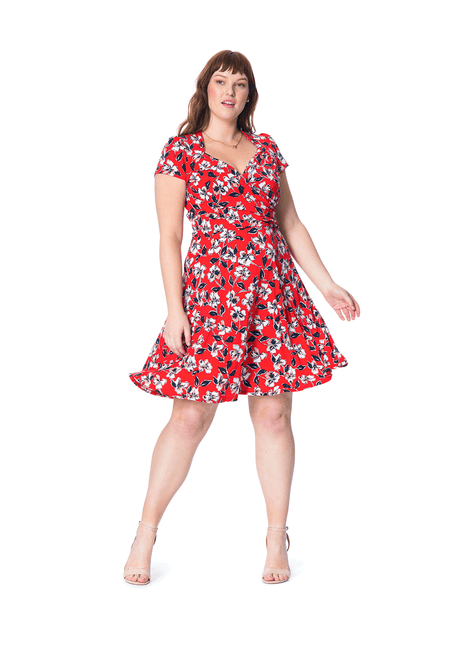 Sweetheart A-Line Dress in Marina (Curve)