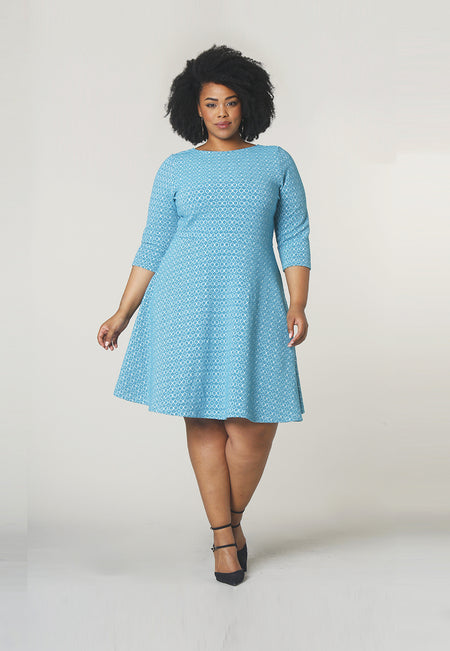 Circle Dress in Belissimo Jacquard (Curve)