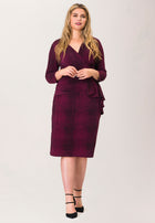 Scarlett Dress in Crocco Raspberry Radiance (Curve)
