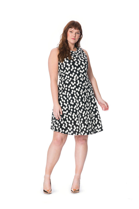 Ava A-Line Dress in Cluster Dot (Curve)