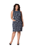 Panel Dress in Bayside Jacquard (Curve)