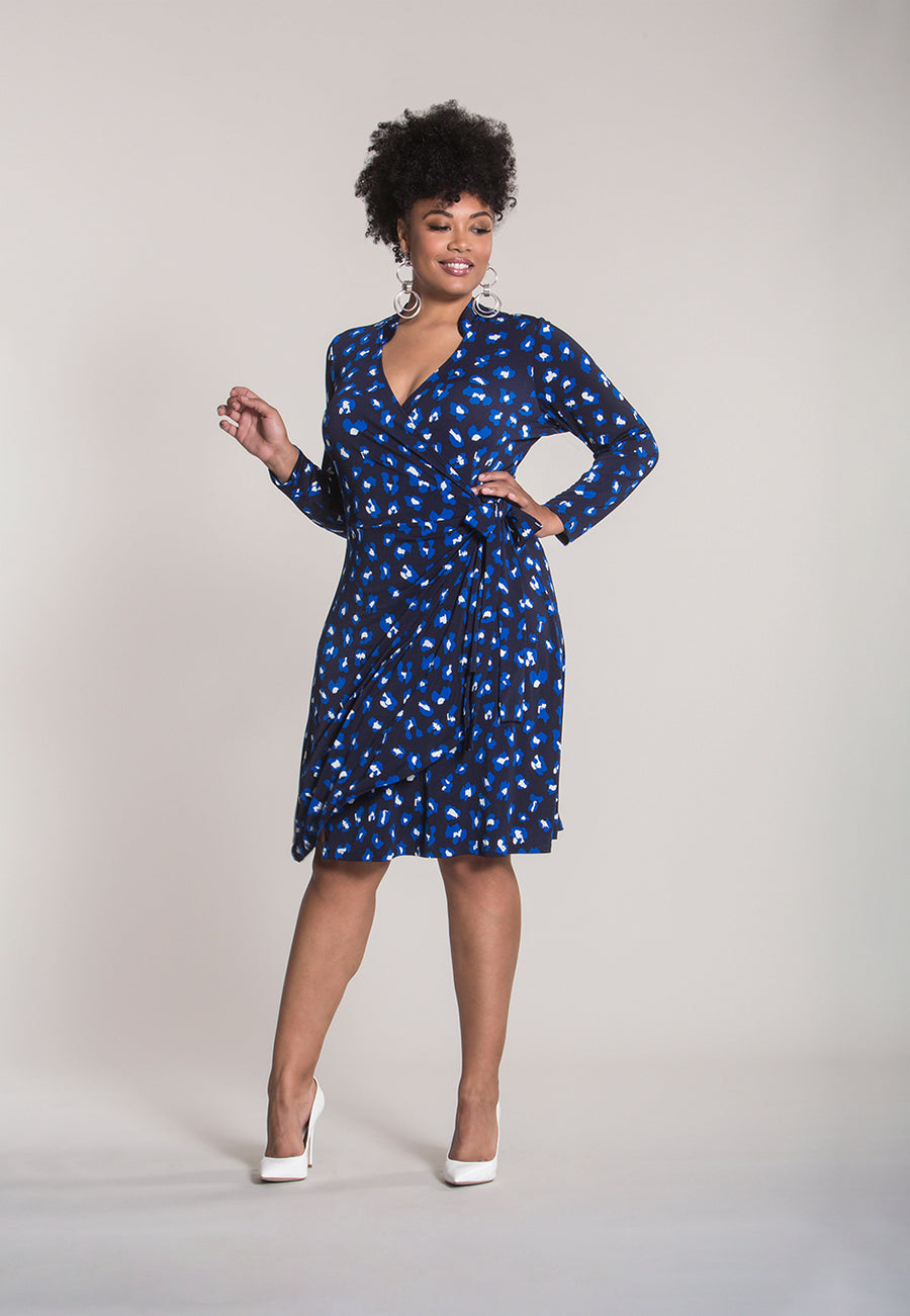 Gabrielle Dress in Cheetah Spot (Curve)