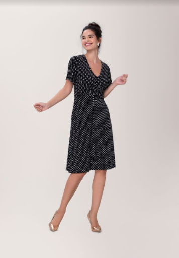 Betty Dress in Classic Dot & Pin Dot (Curve)