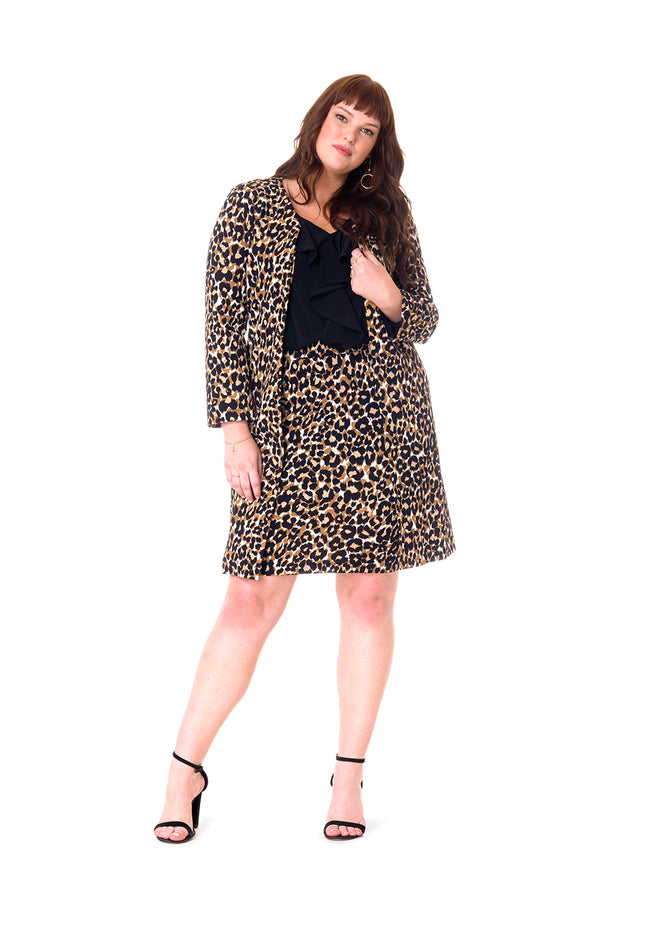 Cora Jacket in Leo (Curve)