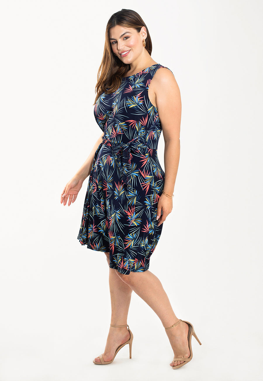 Calista Dress in Agave (Curve)