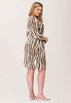 Celeste 3/4 Sleeve in Zebra Stripe (Curve)