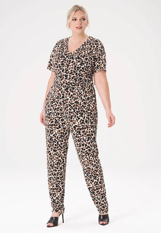 Michaela Jumpsuit in Giraffe (Curve)