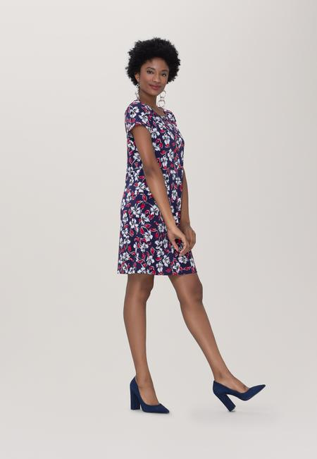 T-shirt  Shift Dress in Marina Classic Navy Blue