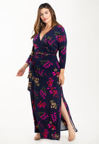Perfect Wrap Maxi Dress in Malibu Classic Navy