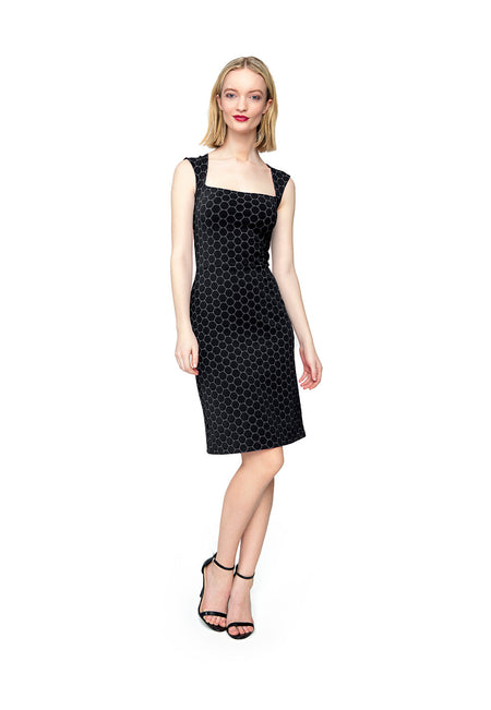 Eve Dress in Black Luxe Jacquard