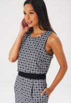 Simone Jumpsuit in Chainmail Black