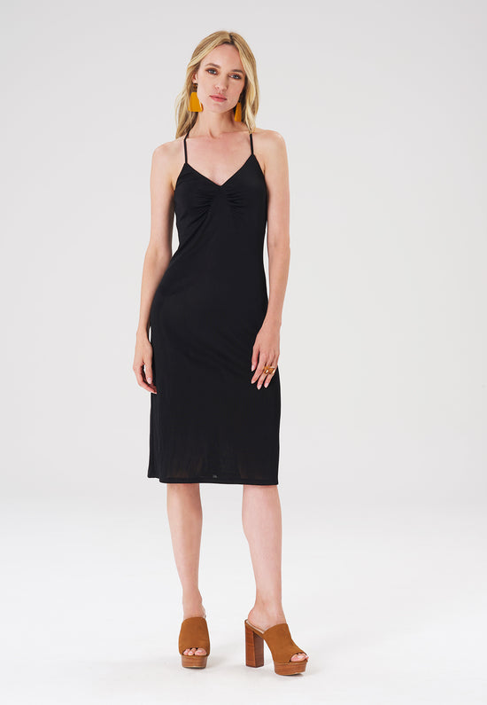 The Lucy Dress in Luxe Jersey Black