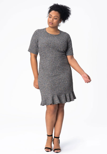 Gia Dress in Rainbow Boucle Multi (Curve)