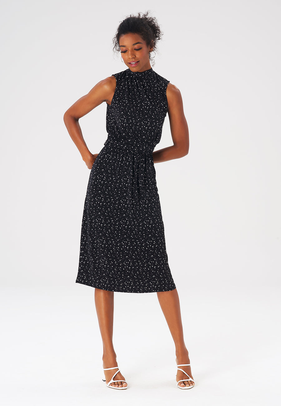 Leota Aria Dress in Starry Night Black
