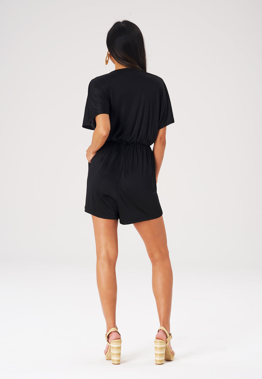 Ruby Romper in Luxe Jersey Black