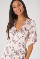 Leota Lily Dress in Blossoms Pale Peach