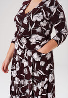Leota Eliza Dress in Pressed Tulips Fig (Curve)