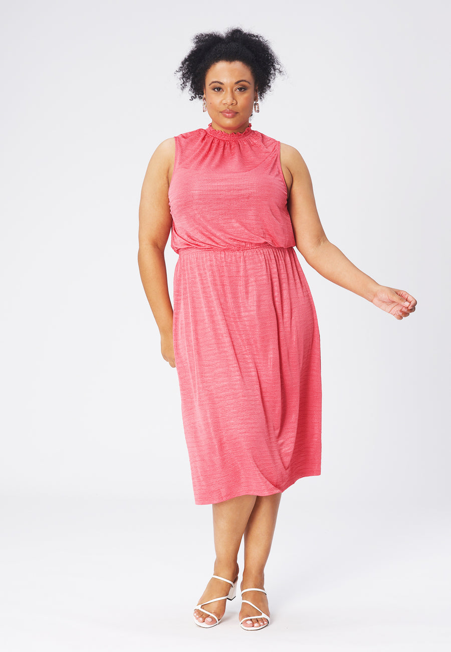 Leota Samantha Dress in Rapture Rose (Curve) front