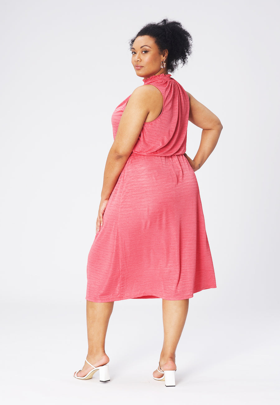 Leota Samantha Dress in Rapture Rose (Curve) back