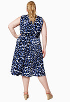 Mindy Dress in Painterly Leopard (Curve)