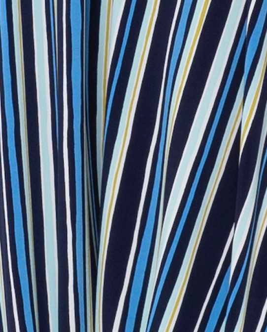 Tiana Pieced Dress in Poolside Stripe
