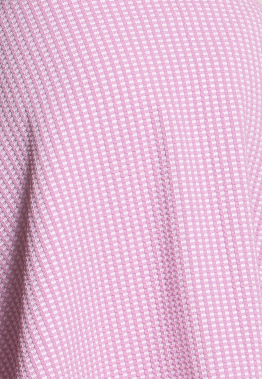 Ava A-Line Dress in Picnic Gingham Pink