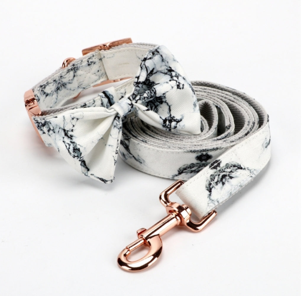 Marble Print Collar & Lead set