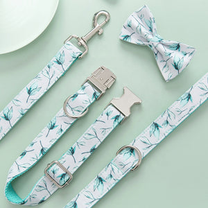 Floral Dog Collar & Bow-tie