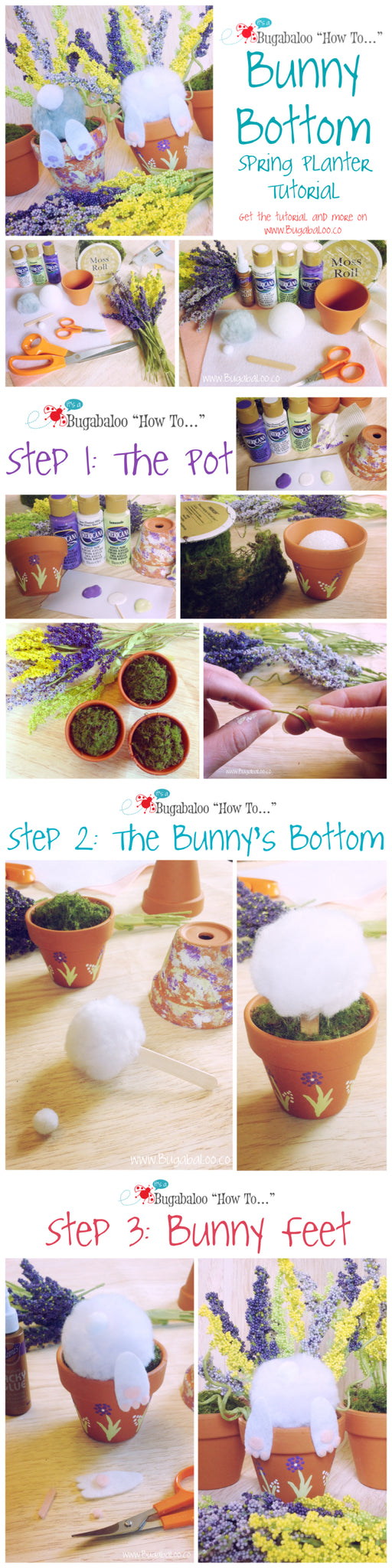 Bugabaloo How To: Bunny Bottom Spring Planter Tutorial
