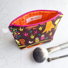 Busy Bee Bag - Zippered Pouch - Small Bag - Fall Frolic