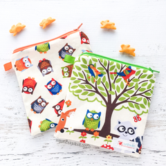 Nibblybug Medium Snack Bag Gift Set - Woodland Friends