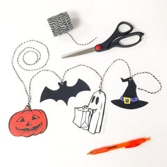 Free Printable - Halloween Treat Bag Tags or Mini-Bunting