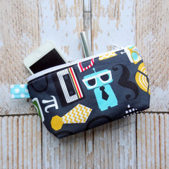 Busy Bee Bag - Zippered Pouch - Medium Bag - Nerd Bot