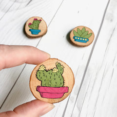 Magnets - Cactus Garden - Set of Three Fridge Magnets