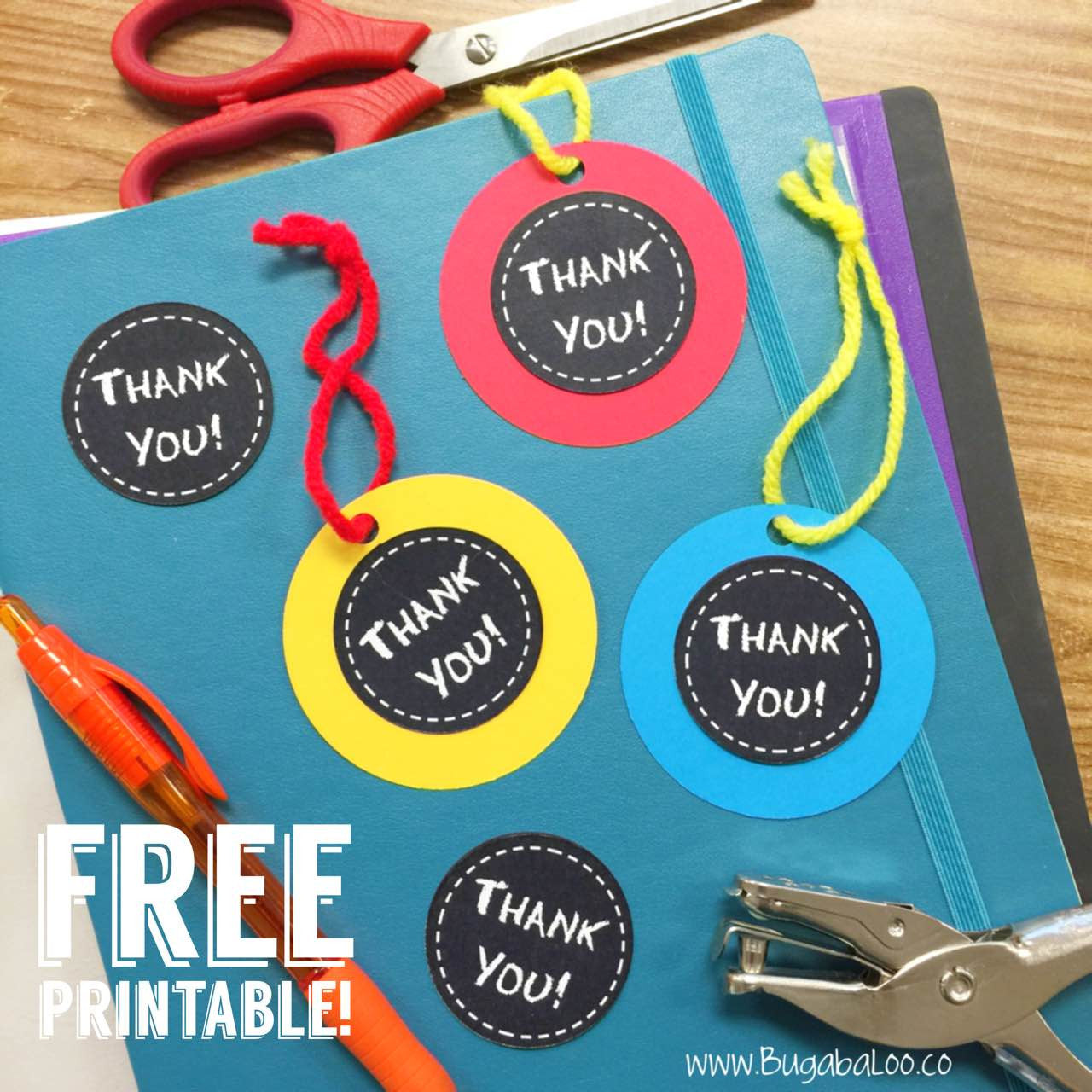 picture relating to Free Printable Thank You Tags for Favors known as Free of charge Printable - Chalkboard Thank Yourself Tags Bugabaloo, Inc.