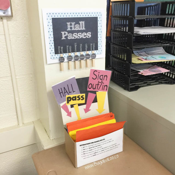 It is a photo of Candid Printable Hall Pass
