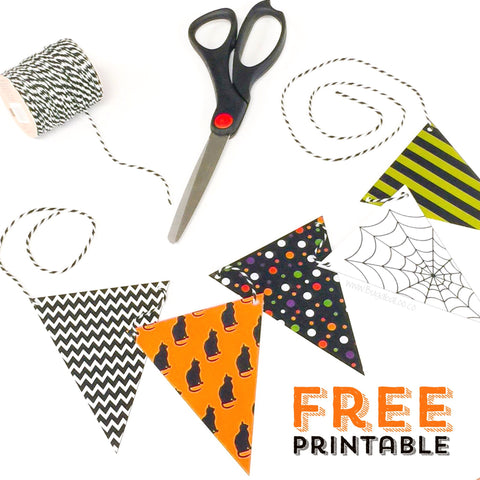 Free Printable - Halloween Mini-Bunting