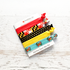 FOE No Crease Hair Ties - Maryland Flag , Crabs, and Dots