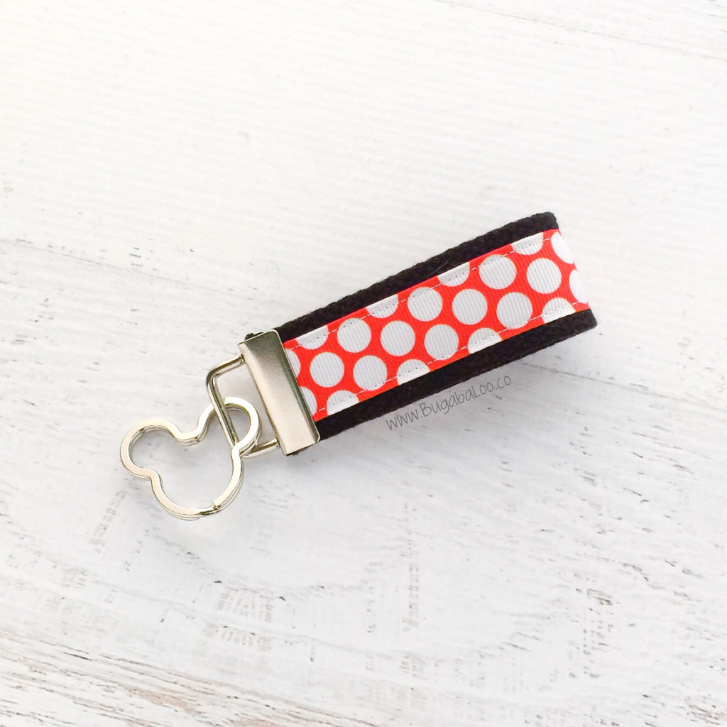 Key Fob (Medium): Minnie Themed Key Fob Key Chain