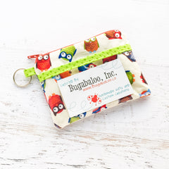 Katydid Coin Purse with Pocket - Owls