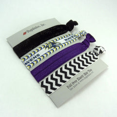 FOE No Crease Hair Ties - Baltimore Ravens, Set of 4